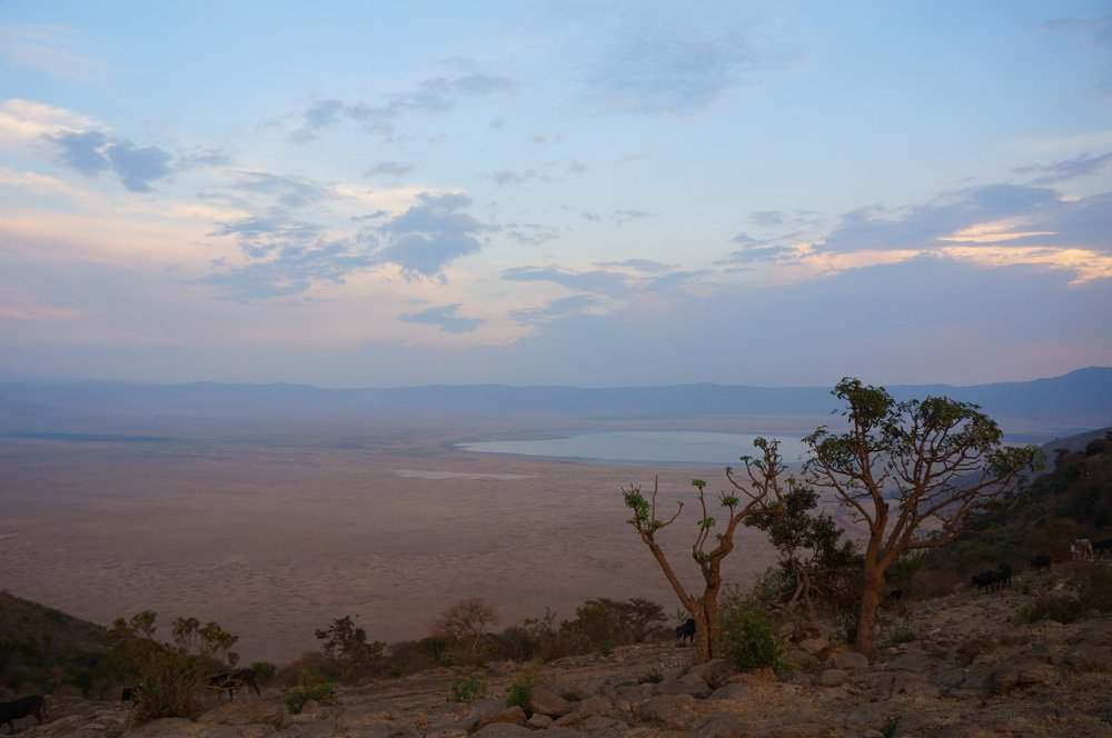 View from the top of the crater