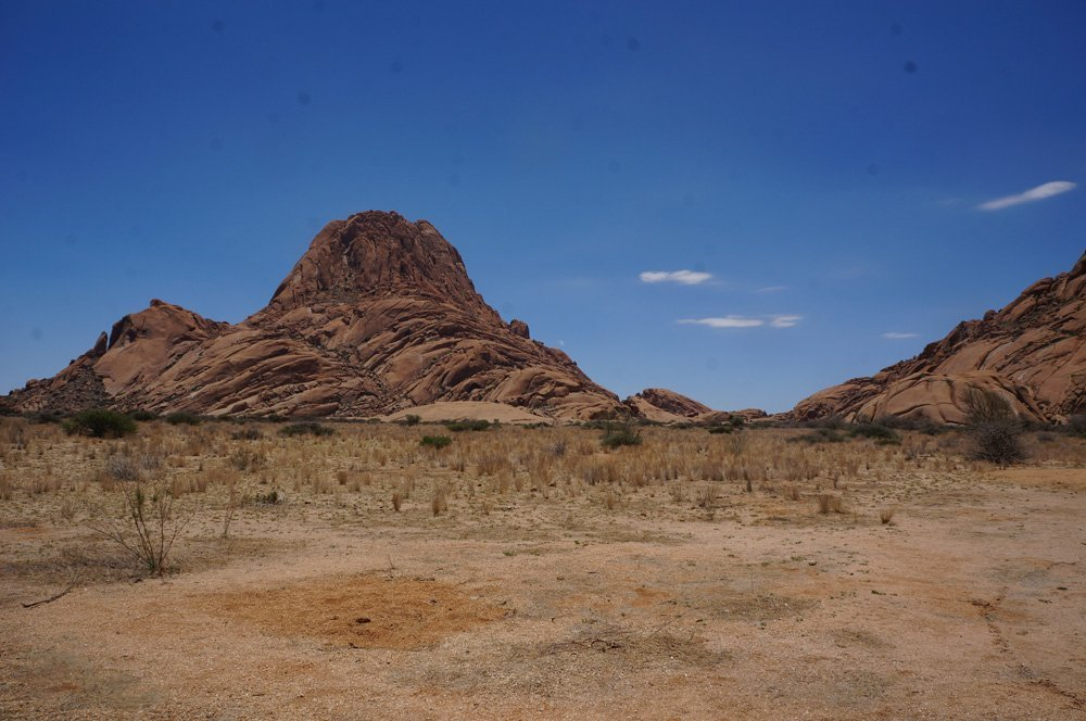 View of Spitzkoppe from our campsite.