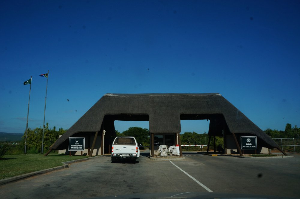 Entrance for the Addo Elephant Park.
