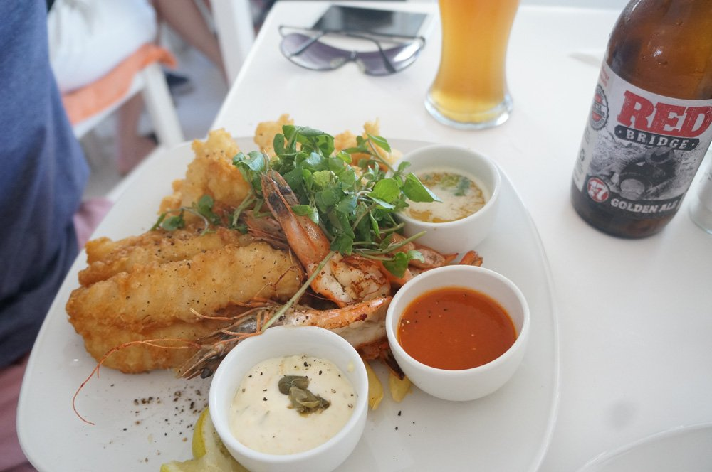 Delectable seafood platter at East Head Cafe.