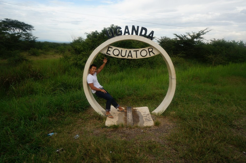 Passing through the Equator on my tour.