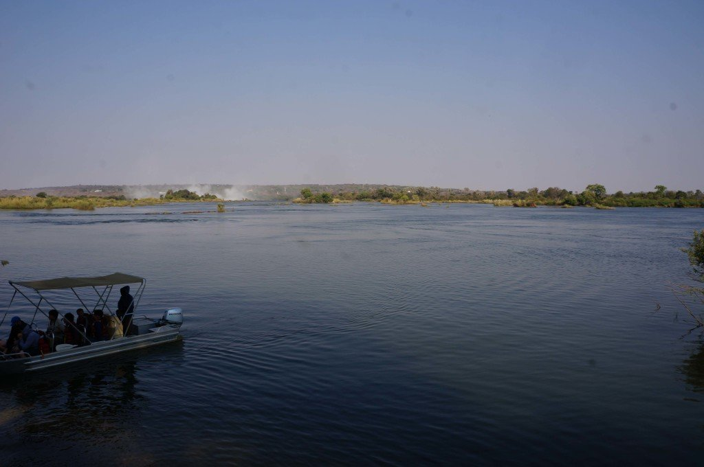 View of the Zambezi from the Royal LIvingstone Hotel