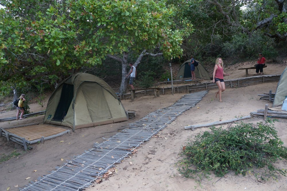 Our campsite for the night.
