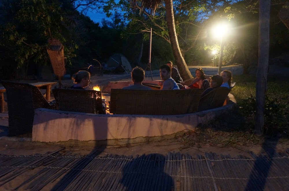 Lounging after a long day sailing around the Indian Ocean.
