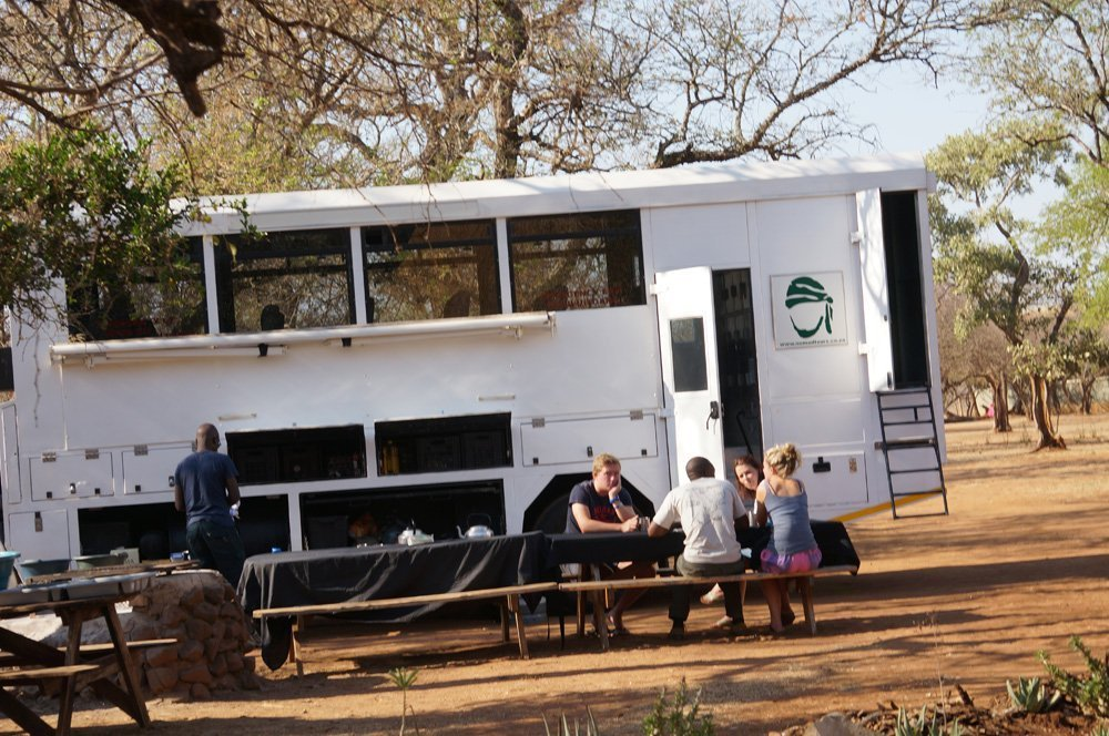 Our overland truck that would eventually take us to Mozambique.