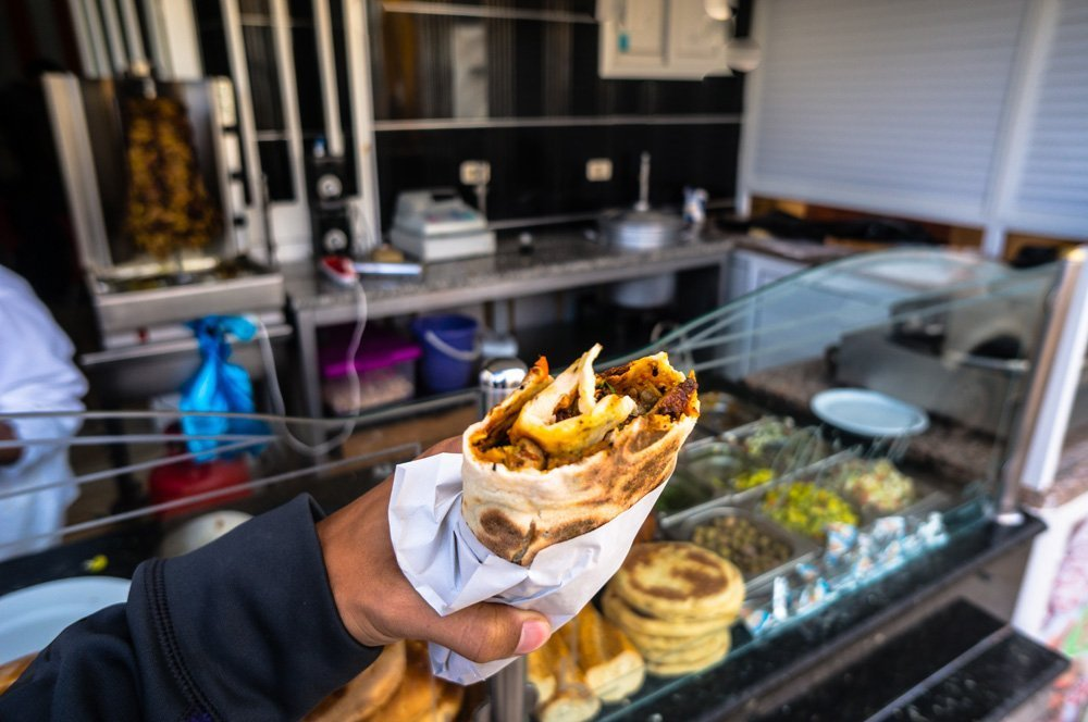 This shawarma sandwich I had in El Jem is easily one of the best I've ever had in my life. And I've had many.