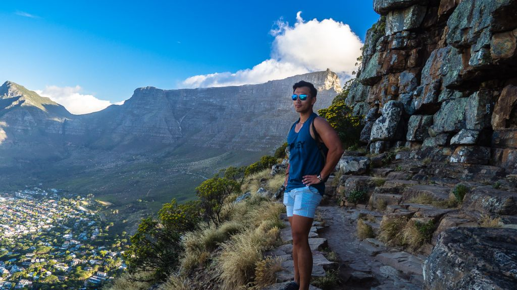 Hiking lion's head cape town