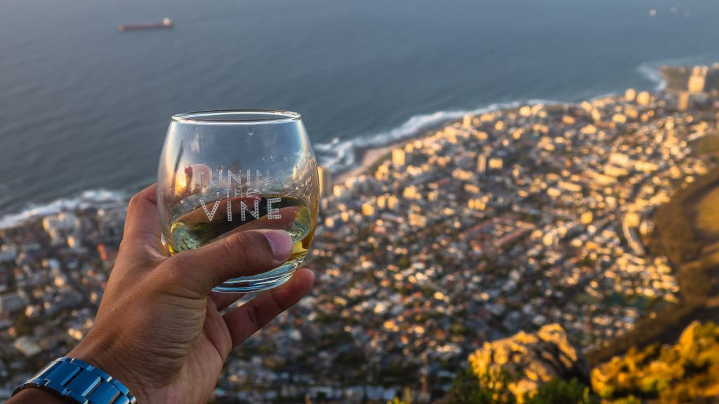 Can't beat having sundowners on Lion's Head!