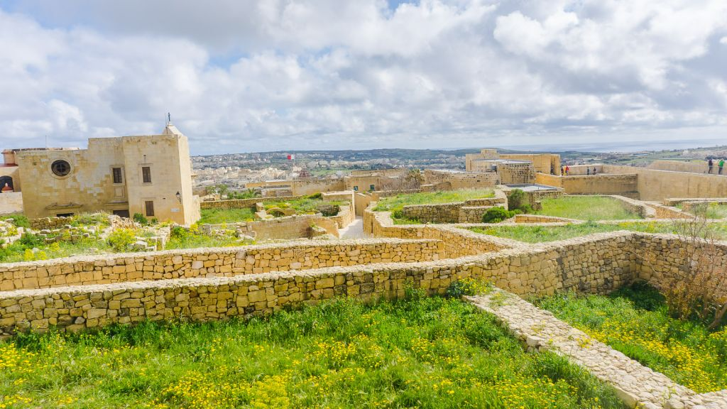 Victoria Gozo castle with views of the countryside