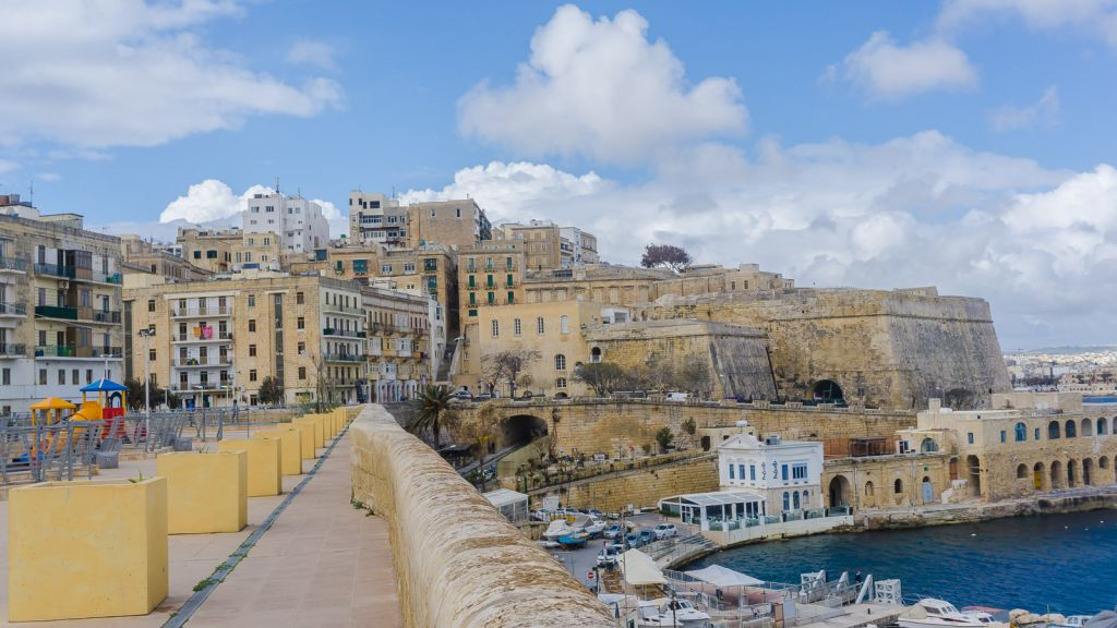 Valletta is right on the Mediterranean as well