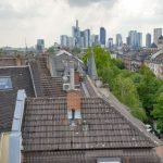 Views of Frankfurt from this amazing Balkon in Nordend