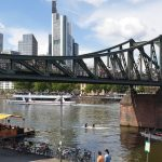 Views of Frankfurt skyline from Sachsenhausen