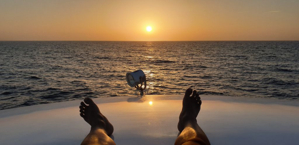My daily sunset routine in the Red Sea