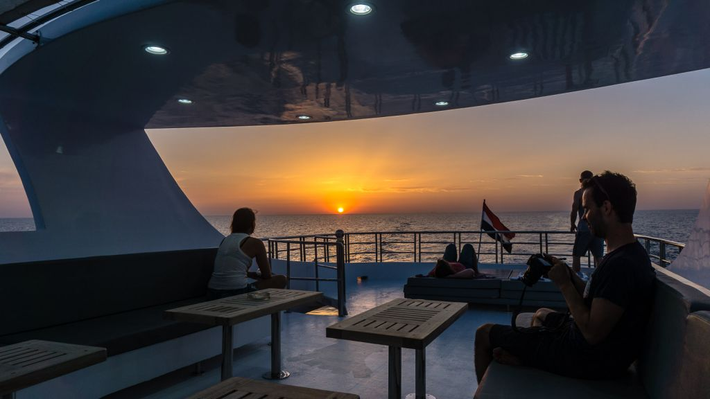 Epic sunsets in Egypt while on a liveaboard