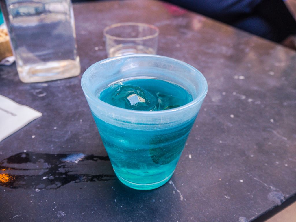 Blue aegean negroni clumsies bar athens