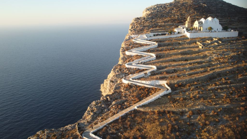 The famous church of Folegandros